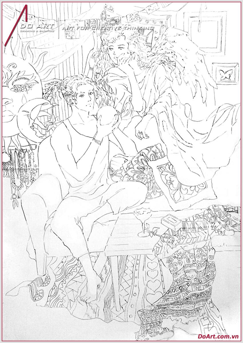 huong-dan-ve-manga-phong-cach-boho-line-net-doart