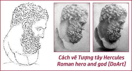 cach-ve-tuong-tay-hercules-roman-hero-and-god-doart