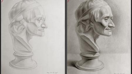 Tác Phẩm Đầu Tượng - Học Viên DO ART